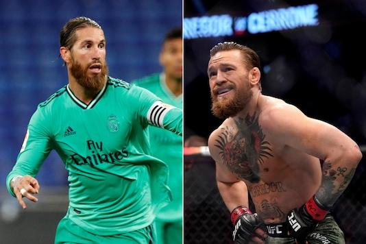 Sergio Ramos (L) and Conor McGregor (Photo Credit: Reuters)