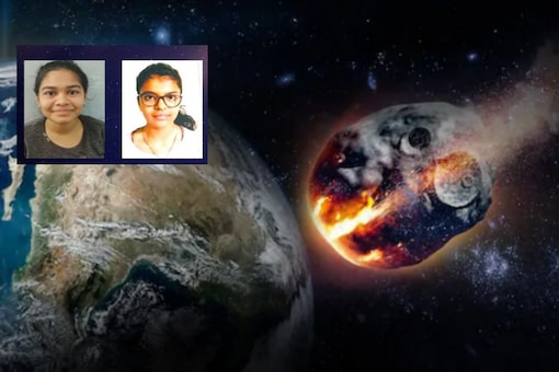 An artist's illustration of a giant asteroid approaching Earth/SPACE India.