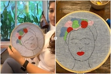 Twinkle Khanna Embroiders Frida Kahlo's Portrait as She Remembers Her Grandmother's Lessons