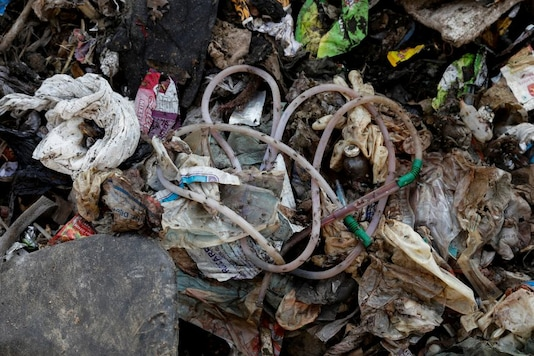 For Representation. Disposed medical waste lies on the floor of a landfill site, during the coronavirus disease (COVID-19) outbreak, in New Delhi. (Image: Reuters)