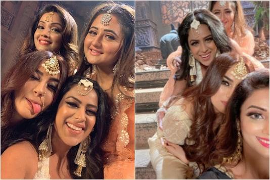 Rashami Desai with Naagin 4 cast