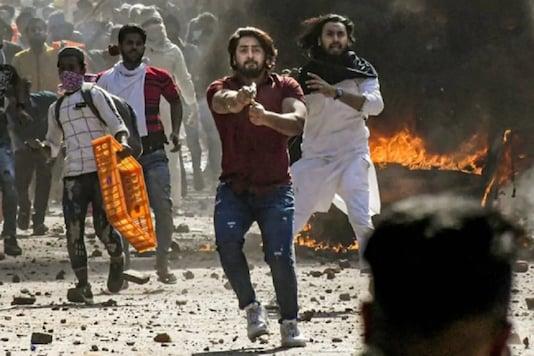 File photo of Shahrukh Pathan brandishing a gun during the riots in northeast Delhi.