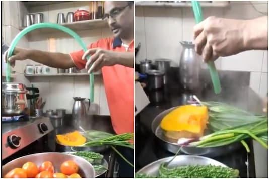 Watch: This Man Has Devised a Perfect Hack to Sterilize Vegetables Using Pressure Cooker Steam
