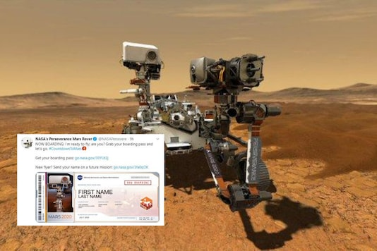 NASA Issues Boarding Pass to Mars Lovers Who Can Take Off With Perseverance Rover to Red Planet