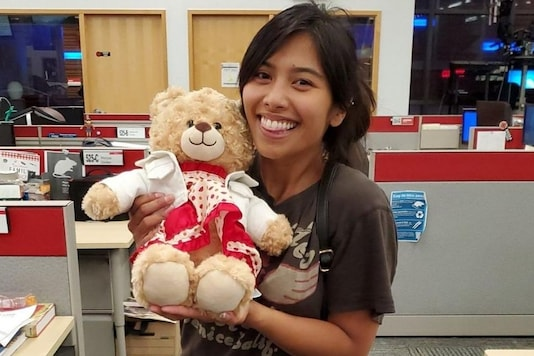A woman has been reunited with the teddy bear that contains her mother's last message. Credits: Twitter