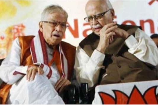 LK Advani (right) with Murli Manohar Joshi (PTI File)