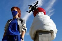 Whipped Cream Sculpture Topped With a Fly And Drone in Trafalgar Square's Unveiled