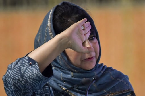 File photo of PDP leader and former J&K chief minister Mehbooba Mufti.