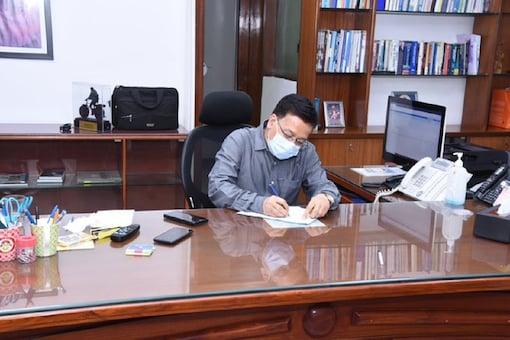 Health secretary Rajesh Bhushan. (Image credit: ANI Twitter)