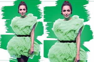 Malaika Arora Poses in Cabbage Dress, Pics Go Viral