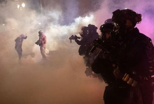 Portland police action indicates federal withdrawal moving ahead