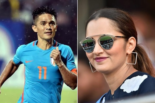 Sunil Chhetri and Sania Mirza (Photo Credit: PTI)