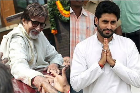 Amitabh Bachchan (L), Abhishek Bachchan (R)