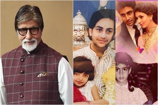 Amitabh Bachchan (L) wishes fans on Rakhi 2020