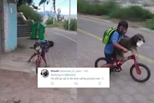 Watch: Young Boy Putting Face Mask on Pet Dog during Bicycle Ride Wins Hearts Online