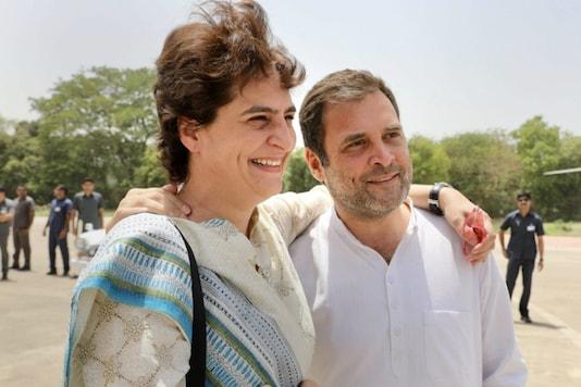 File photo of Rahul Gandhi with Priyanka Gandhi Vadra. (PTI)