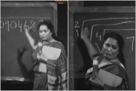 An old clip from Doordarshan featuring a young Shakuntala Devi has been going viral | Credit: YouTube