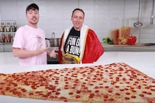 MrBeast Ate 'World's Largest Pizza' by Challenging Professional Eater and Totally Regretted it