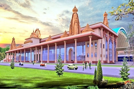 A layout of re-developed Ayodhya Railway station (news18)