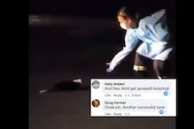 Paramedics in PPE Suit Rescue Skunk whose Head was Stuck in a Paper Cup, Internet Salutes Heroes