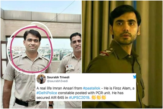 Firoz Khan who is a constable with Delhi Police just passed the UPSC 2019 exams | Image credit: Twitter/Screengrab