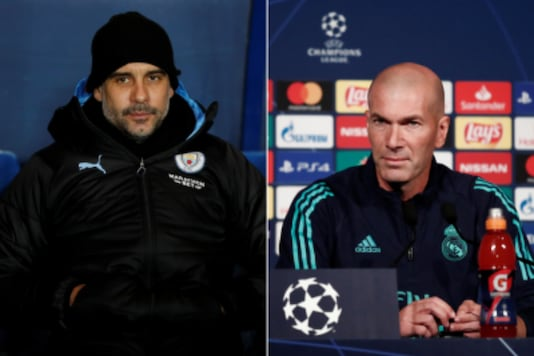Pep Guardiola (L) and Zinedine Zidane (Photo Credit: Reuters)