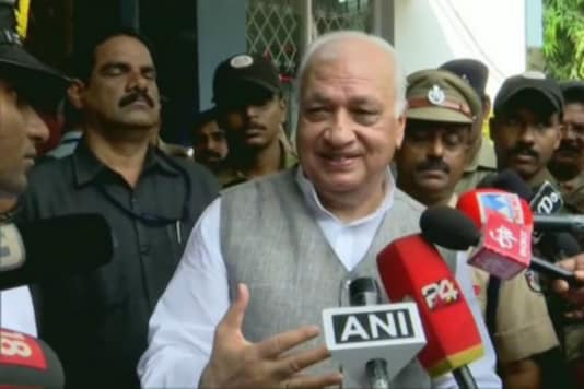 File photo of Kerala Governor Arif Mohammad Khan.