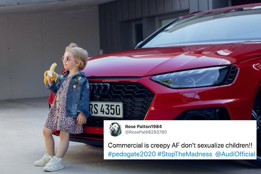 A recent advert by Audi has let Twitter divided. While some claimed the ad sexualised a child, others saw nothing wrong with the poster | Image credit: Twitter/Audi