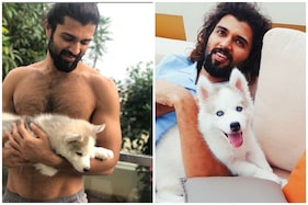 Vijay Deverakonda Poses Shirtless with His 'Cute Beast' Storm, Fans Call Him 'Hot and Handsome'