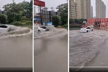 Tesla Model 3 Seen 'Swimming Like a Fish' in Flooded China, Makes for a Perfect Car in Mumbai Rains
