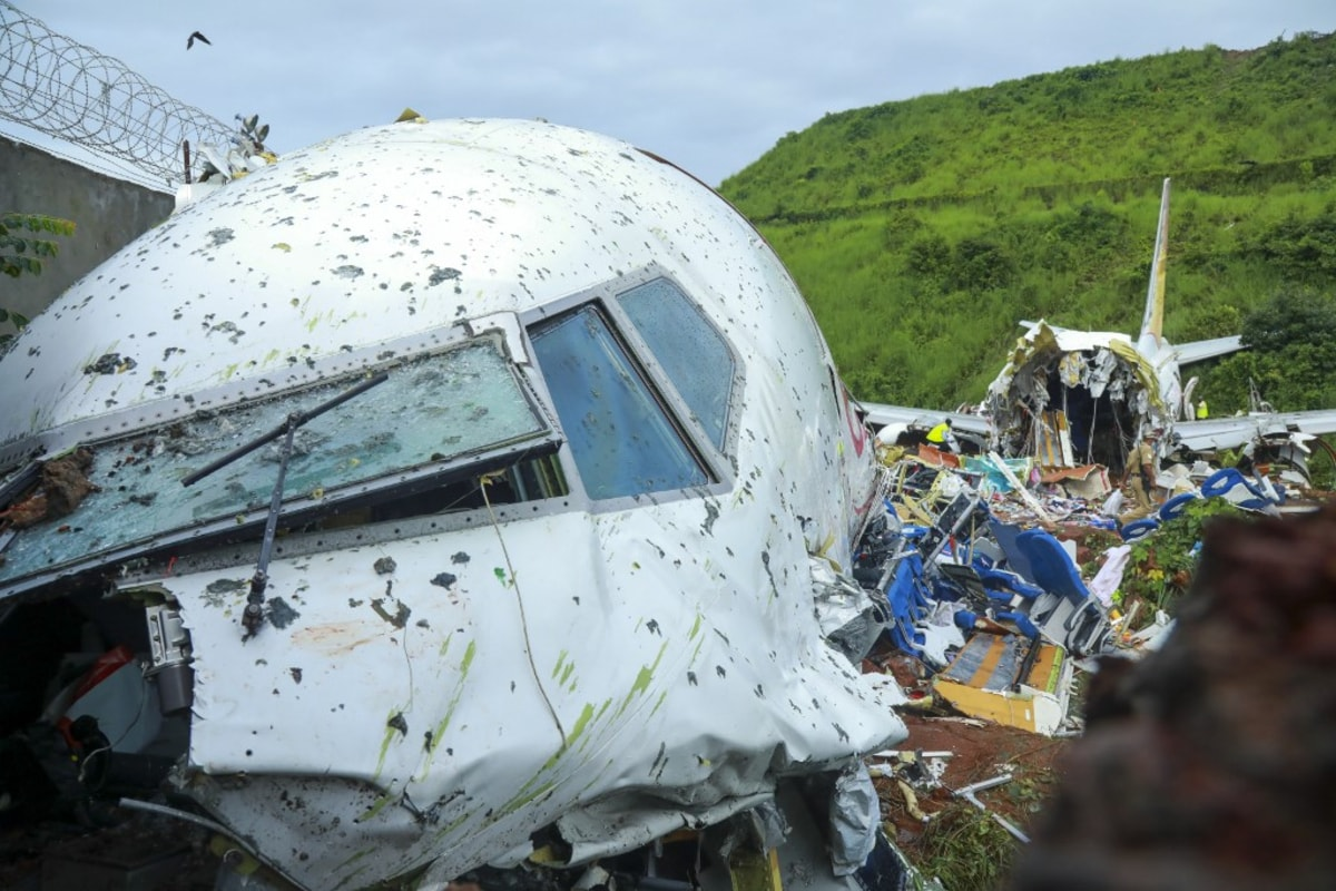 Part of the Debris of Air India Express Flight Removed from Accident Site Near Karipur Airport