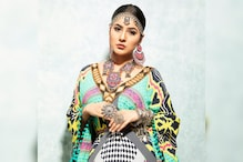 Shehnaaz Gill Looks Stunning as She Poses in Multicolored Kaftan, See Pic