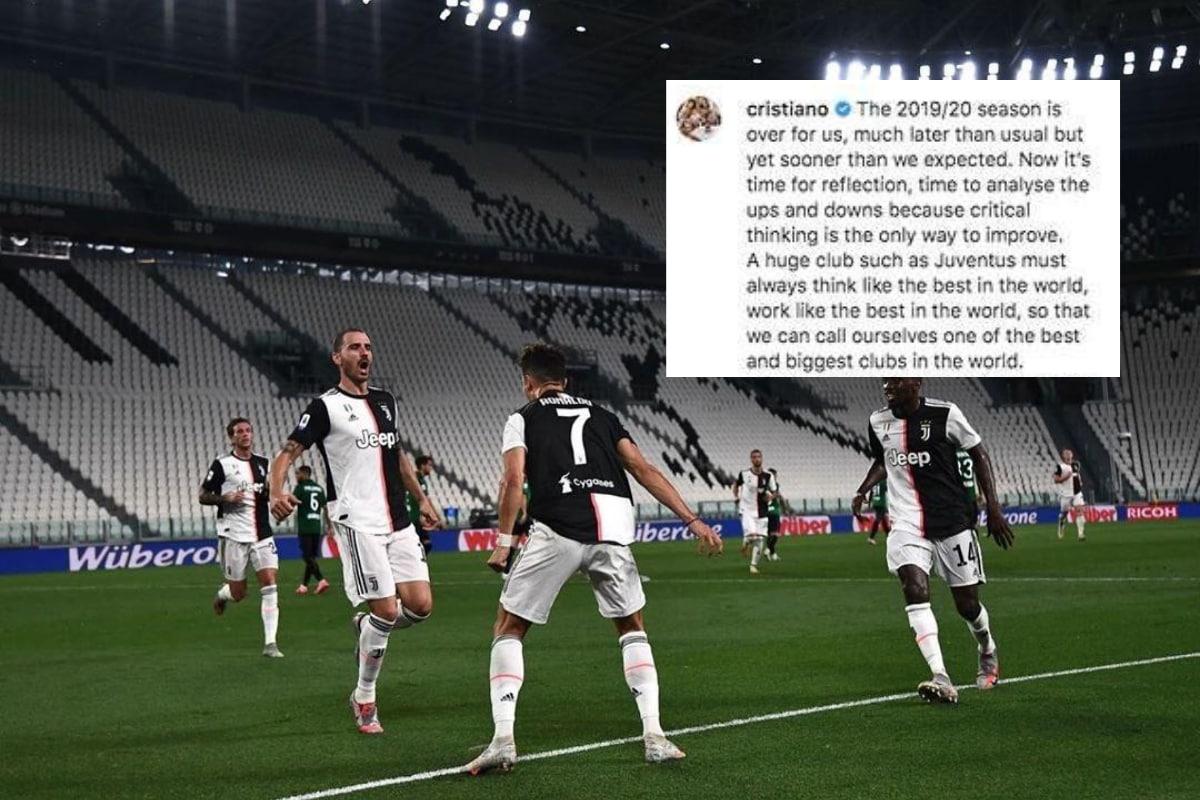 Cristiano Ronaldo Reacts to Juventus' Champions League Exit and Maurizio Sarri Sacking
