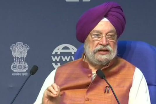 File photo of Civil Aviation Minister Hardeep Singh Puri. (Image Source: PTI)
