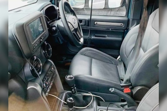 Mahindra Thar interior spyshots. (Image source: Twitter/ Eagle Eye)