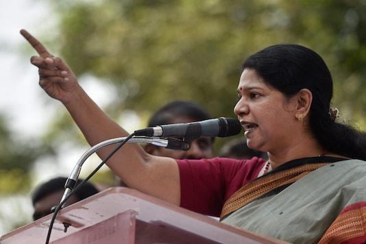 File photo of DMK MP Kanimozhi. (PTI)