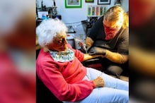 At 103, This Woman Ticks Another One From Her Wish List By Getting Permanently Inked