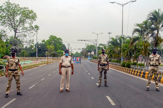 For Representation. Security personnel stand guard during the lockdown in Odisha's Bhubaneswar. (PTI File)
