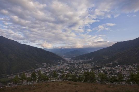 An aerial view of Bhutan's capital Thimphu is seen from a hilltop October 11, 2011. REUTERS/Adrees Latif