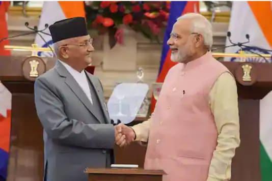 File photo of Nepal's KP Oli with PM Narendra Modi. (PTI)