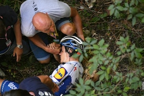 Cyclist Remco Evenepoel Rushed to Hospital After Frightening Crash into Ravine