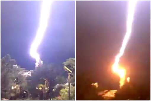Disney World, which opened in July after four months of closure due to the coronavirus lockdown, was recently struck by lightning   Image credit: Twitter