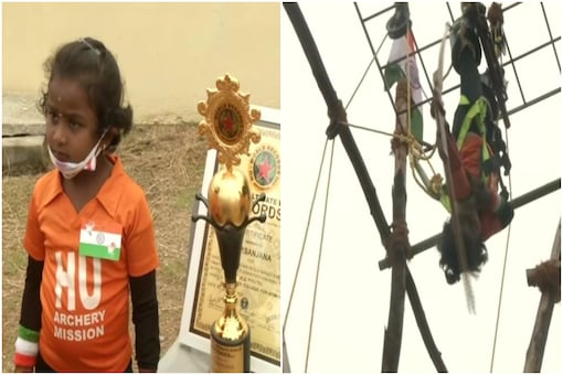A 5-year old archery expert from Chennai has left Twitter in disbelief | Image credit: ANI