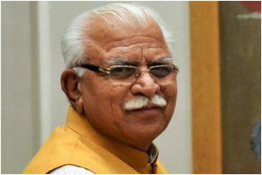 File photo of Haryana CM Manohar Lal Khatter.
