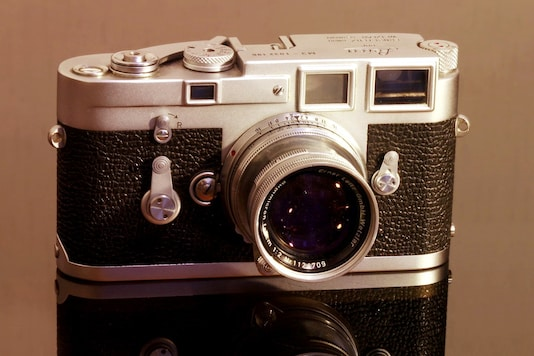The iconic Leica M3 (1954), often credited as the forefather of the venerable Leica M-system cameras that are worshipped today.