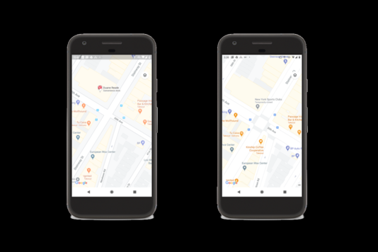 The new roadways interface on Google Maps, which will be rolled out starting with select cities in the coming months. (Image: Google)