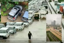 Delhi Rains Halt Traffic, Submerge Cars as Residents Share Viral Images of 'Urban Flooding'