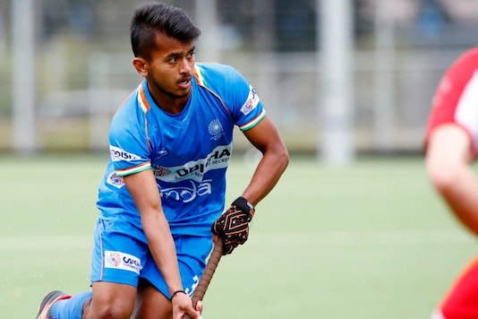 Vivek Sagar Prasad in action (Photo Credit: Hockey India)