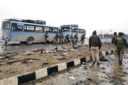 A suicide bomber attack on a CRPF convoy in Lethpora in south Kashmir's Pulwama district on February 14, 2019 had led to the death of 40 soldiers. (REUTERS)