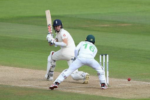 Zak Crawley in action during his knock on Day 1 (Image: ICC)
